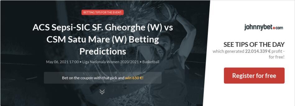 ACS Sepsi-SIC SF. Gheorghe (W) vs CSM Satu Mare (W) Betting Predictions