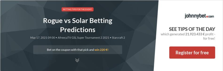 Rogue vs Solar Betting Predictions