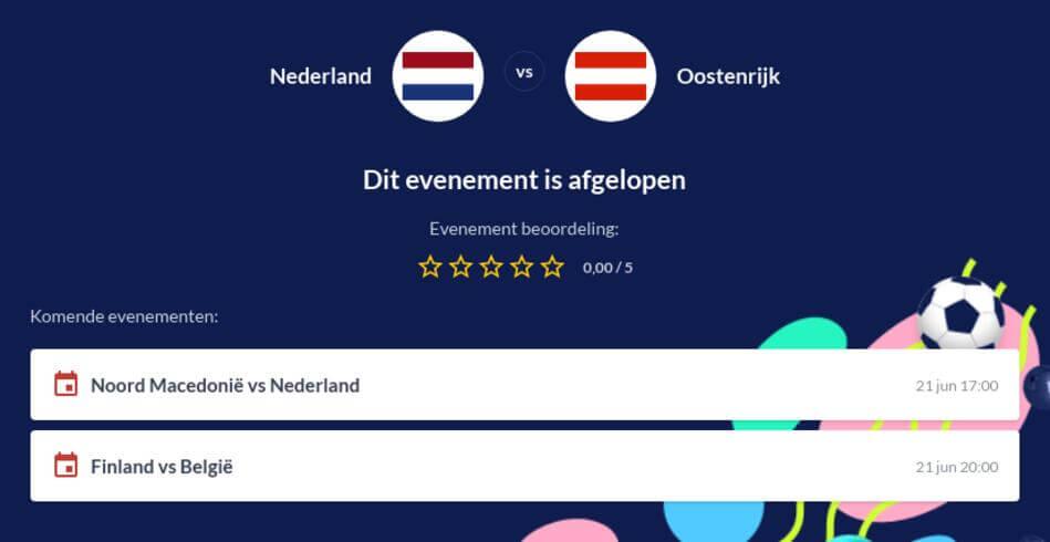 Voorspelling Nederland - Oostenrijk