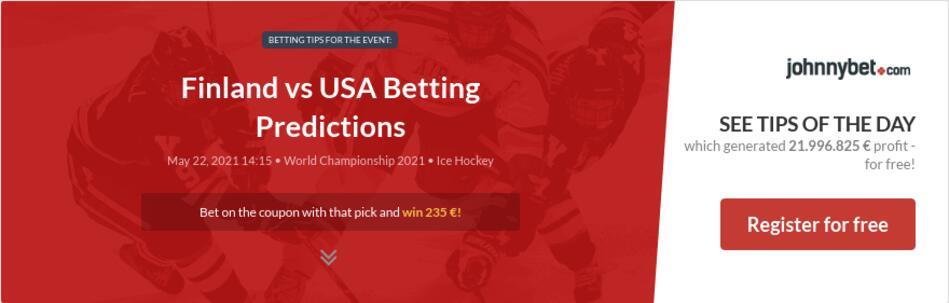 Finland vs USA Betting Predictions