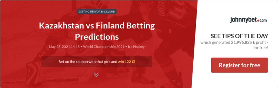 Kazakhstan vs Finland Betting Predictions