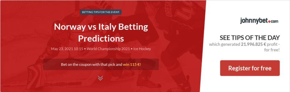 Norway vs Italy Betting Predictions
