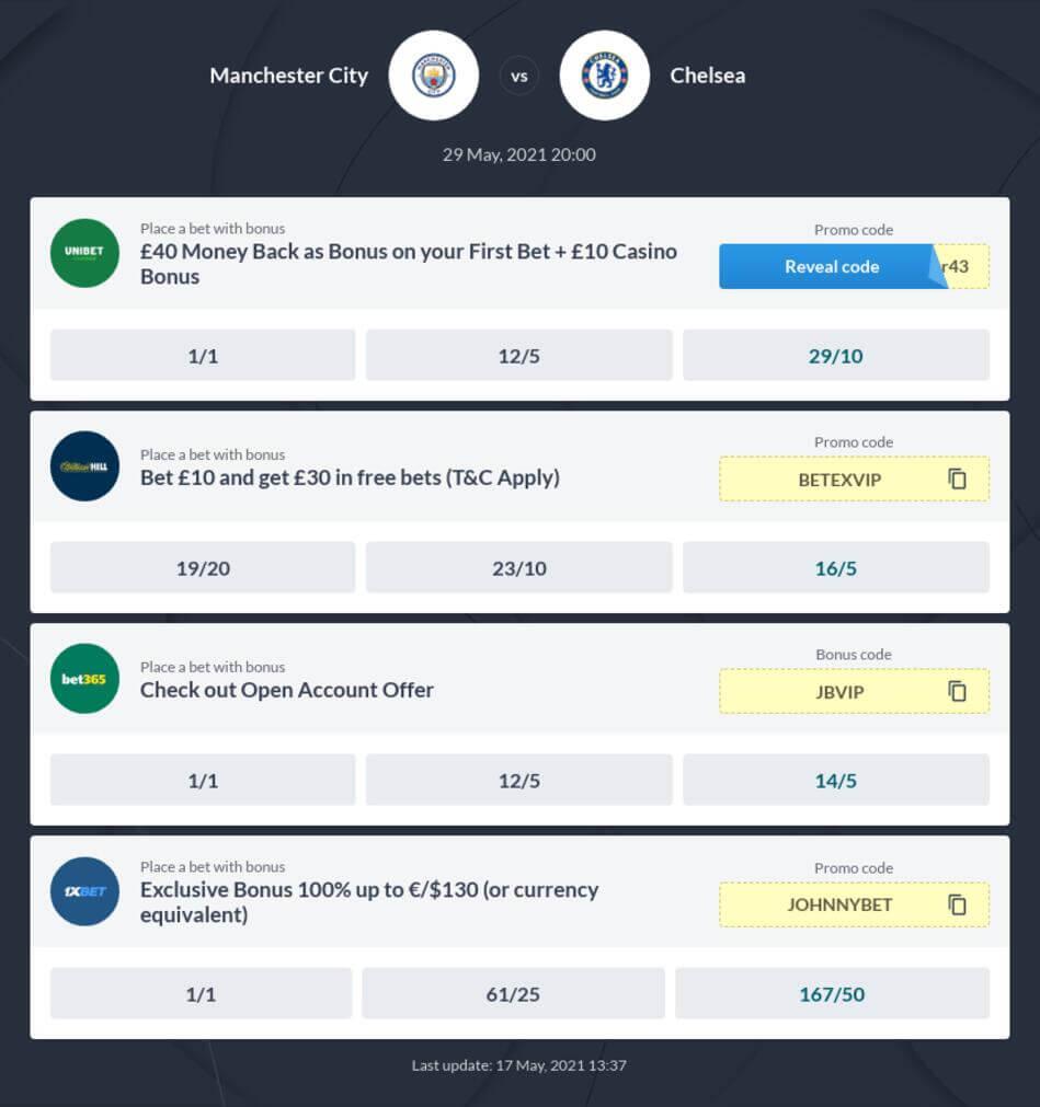 Manchester City vs Chelsea Betting Tips