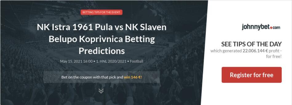 NK Istra 1961 Pula vs NK Slaven Belupo Koprivnica Betting Predictions