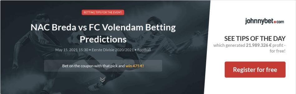 NAC Breda vs FC Volendam Betting Predictions