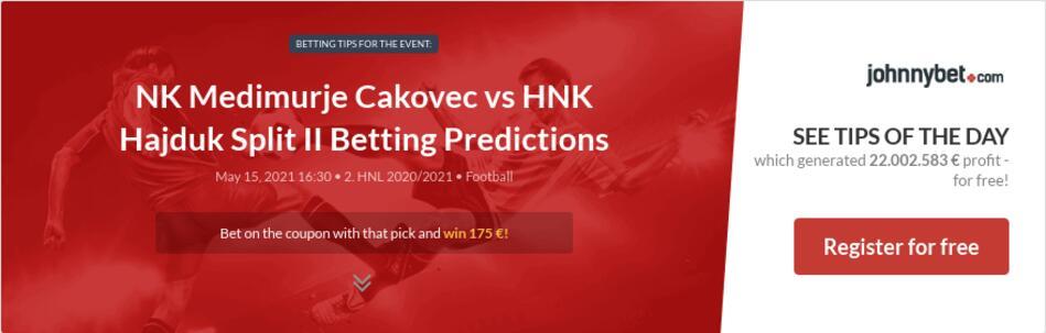 NK Medimurje Cakovec vs HNK Hajduk Split II Betting Predictions