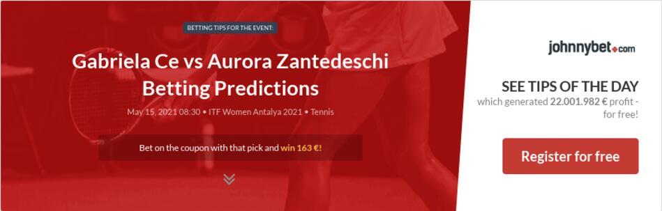 Gabriela Ce vs Aurora Zantedeschi Betting Predictions
