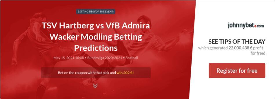 TSV Hartberg vs VfB Admira Wacker Modling Betting Predictions