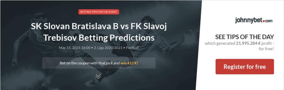 SK Slovan Bratislava B vs FK Slavoj Trebisov Betting Predictions