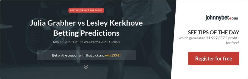 Julia Grabher vs Lesley Kerkhove Betting Predictions