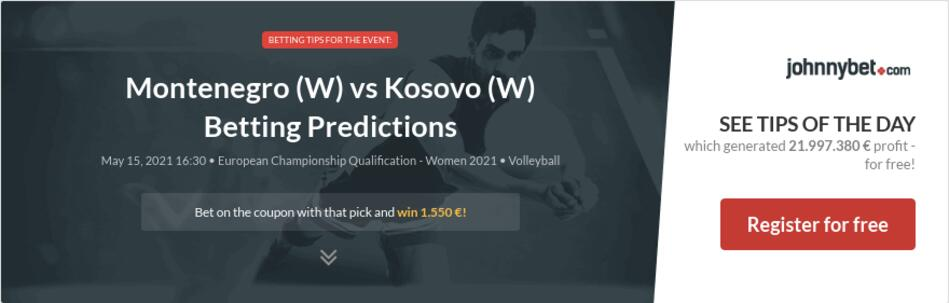 Montenegro (W) vs Kosovo (W) Betting Predictions