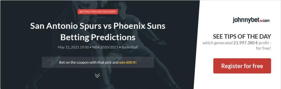 San Antonio Spurs vs Phoenix Suns Betting Predictions