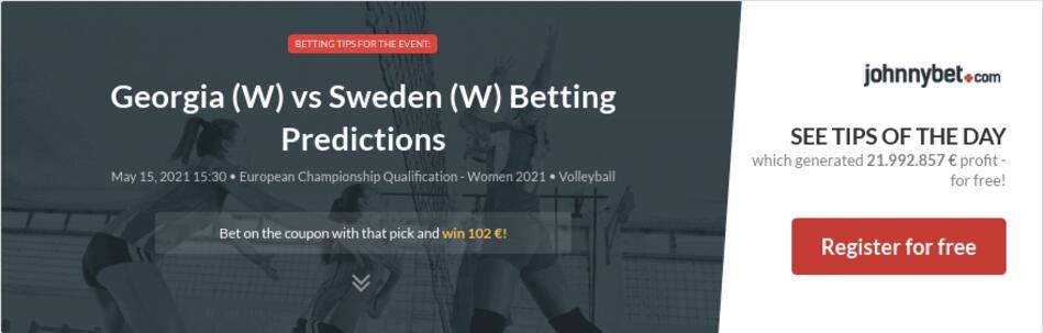 Georgia (W) vs Sweden (W) Betting Predictions