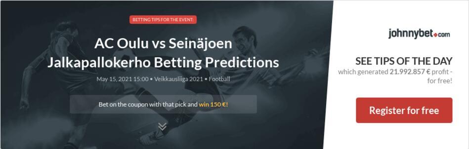 AC Oulu vs Seinäjoen Jalkapallokerho Betting Predictions