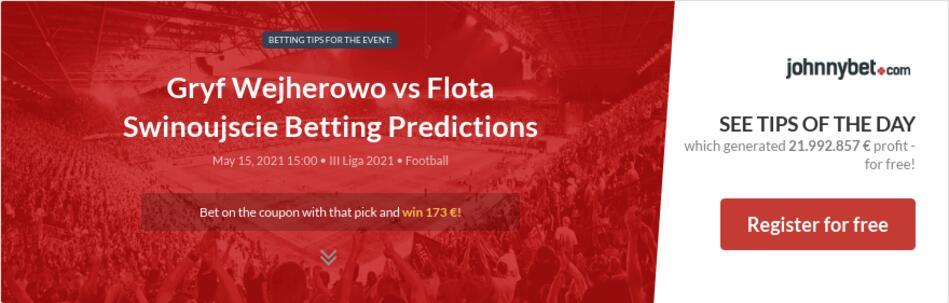 Gryf Wejherowo vs Flota Swinoujscie Betting Predictions