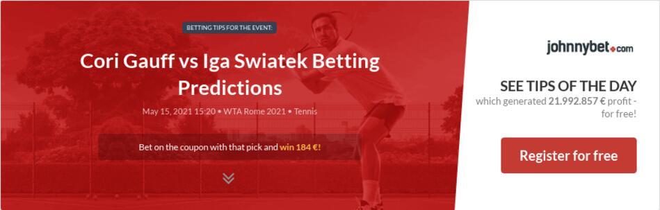 Cori Gauff vs Iga Swiatek Betting Predictions