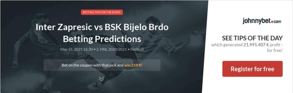 Inter Zapresic vs BSK Bijelo Brdo Betting Predictions