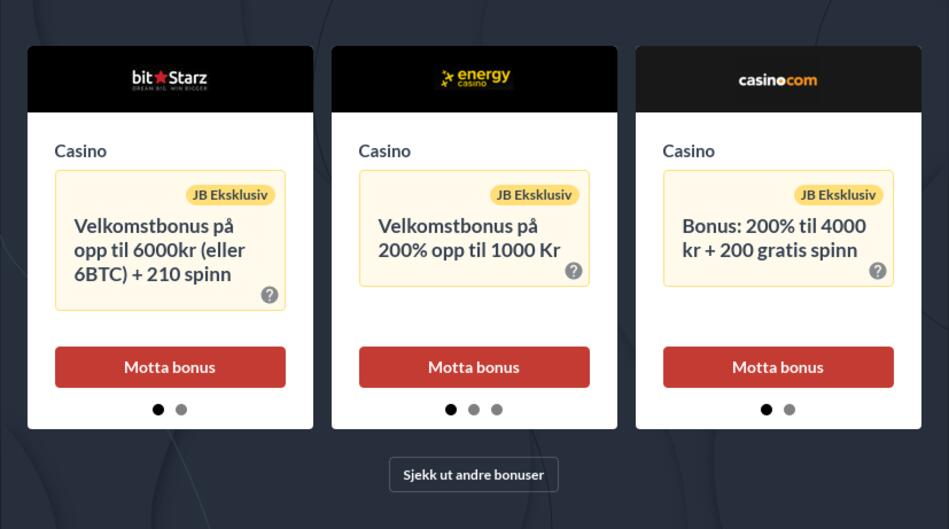 Casino Online Bonus i Norge