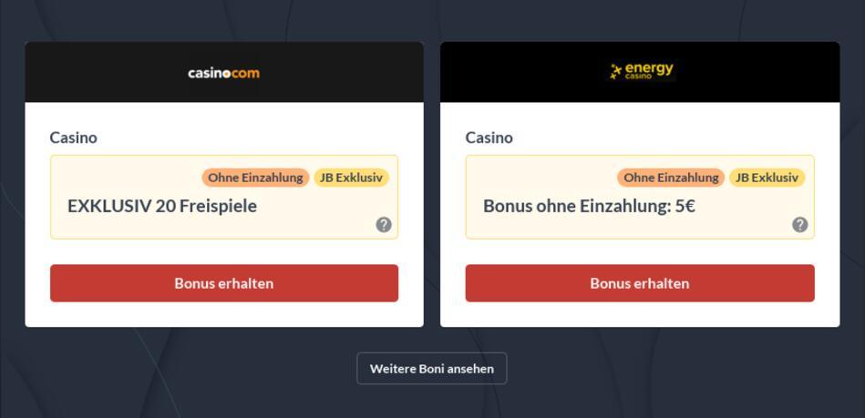 Echtgeld Casino no Deposit Bonus