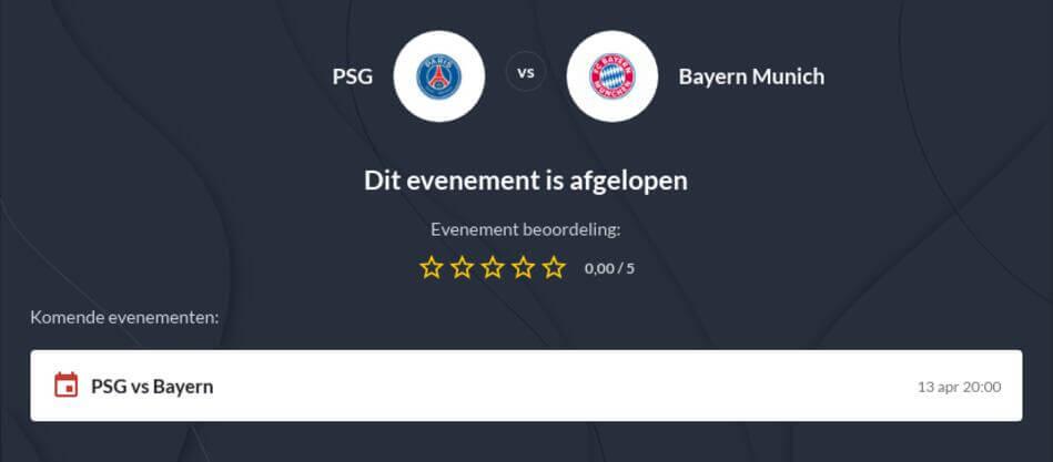 PSG - Bayern München Voorspelling