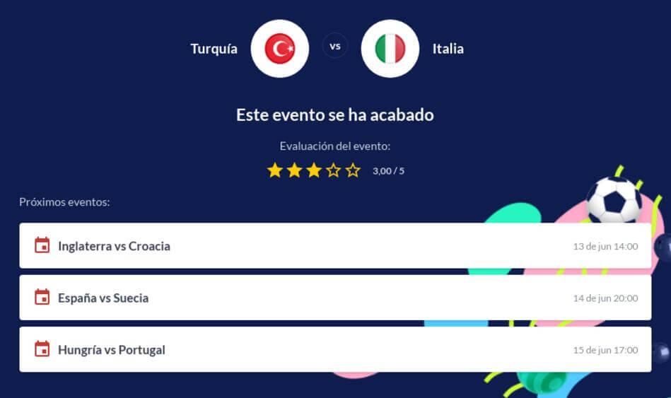 Pronóstico Turquía vs Italia Euro