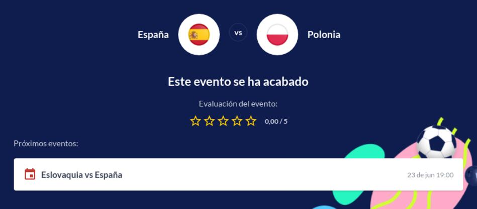 Pronóstico España vs Polonia Euro