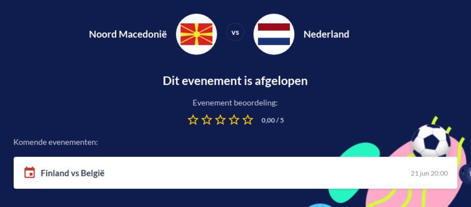 Voorspelling Nederland - Noord Macedonië