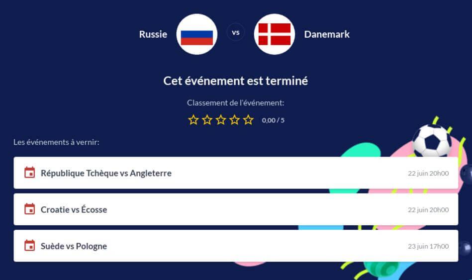 Pronostic Russie - Danemark