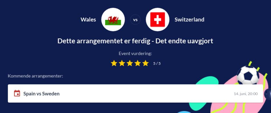 Wales - Sveits odds