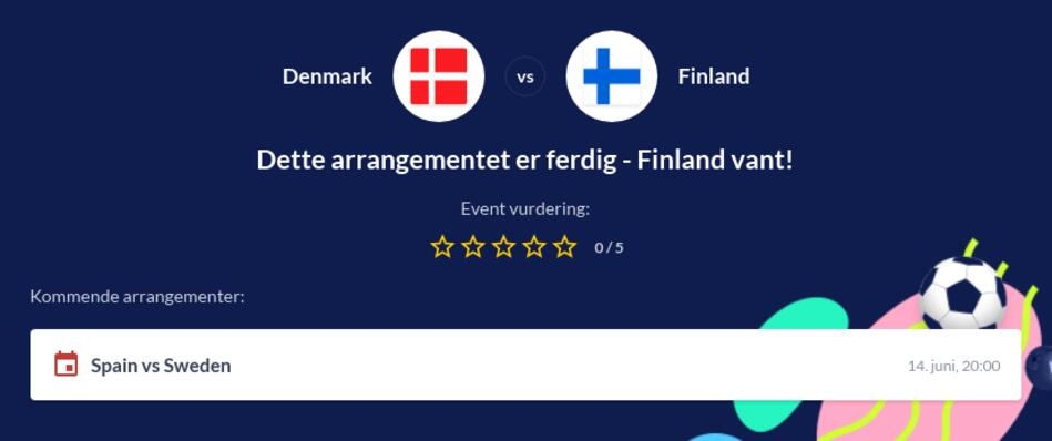 Danmark - Finland odds