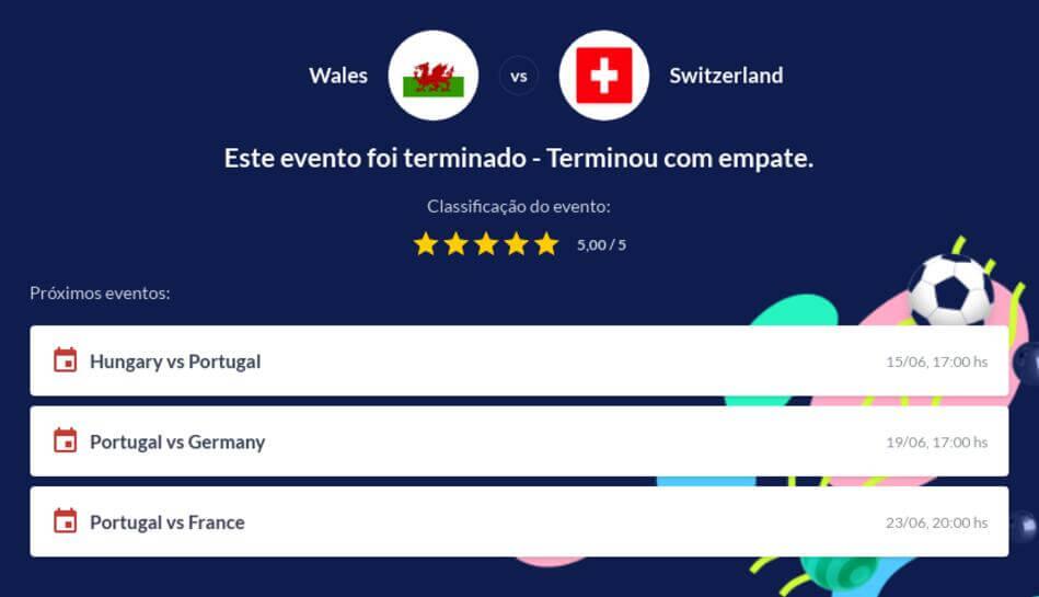 Prognóstico País de Gales vs Suíça