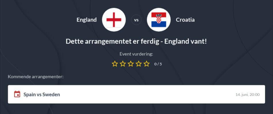 England - Kroatia odds