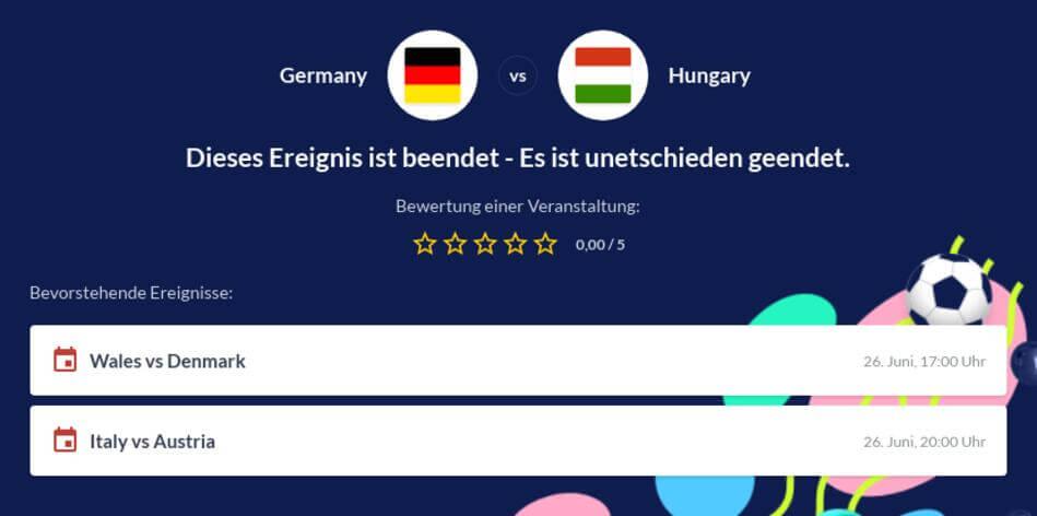 Deutschland - Ungarn Wettquoten