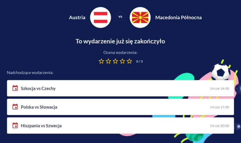 Austria – Macedonia Płn. Zakłady Bukmacherskie