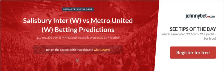 Salisbury Inter (W) vs Metro United (W) Betting Predictions