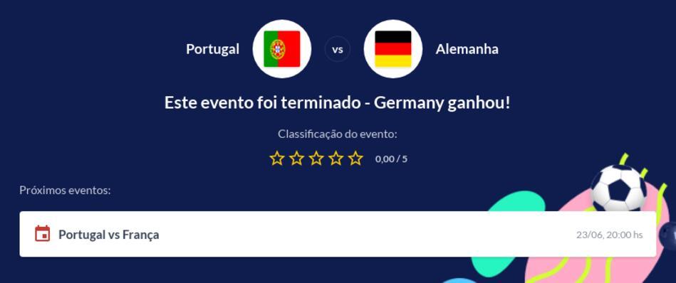 Prognóstico Portugal vs Alemanha