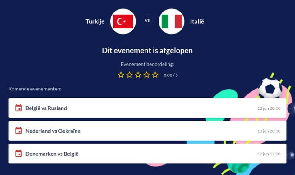 Voorspelling Turkije - Italië