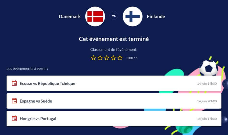 Pronostic Danemark - Finlande