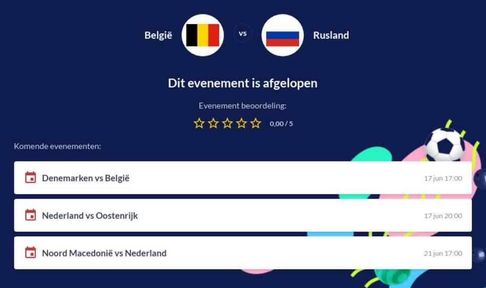 Voorspelling België - Rusland