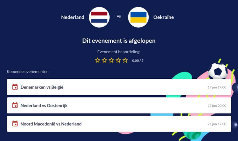 Voorspelling Nederland - Oekraïne