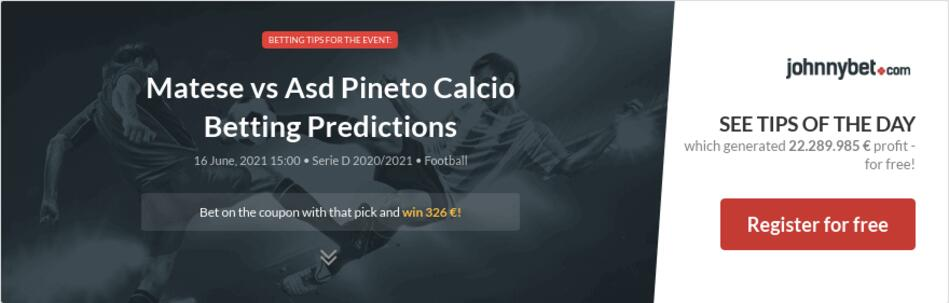 Matese vs Asd Pineto Calcio Betting Predictions