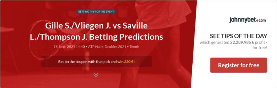 Gille S./Vliegen J. vs Saville L./Thompson J. Betting Predictions