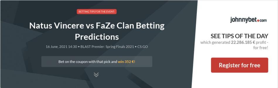 Natus Vincere vs FaZe Clan Betting Predictions