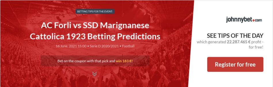 AC Forli vs SSD Marignanese Cattolica 1923 Betting Predictions