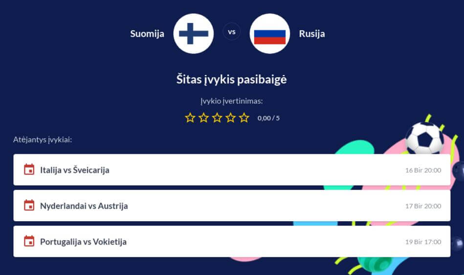 Suomija - Rusija Tiesiogiai