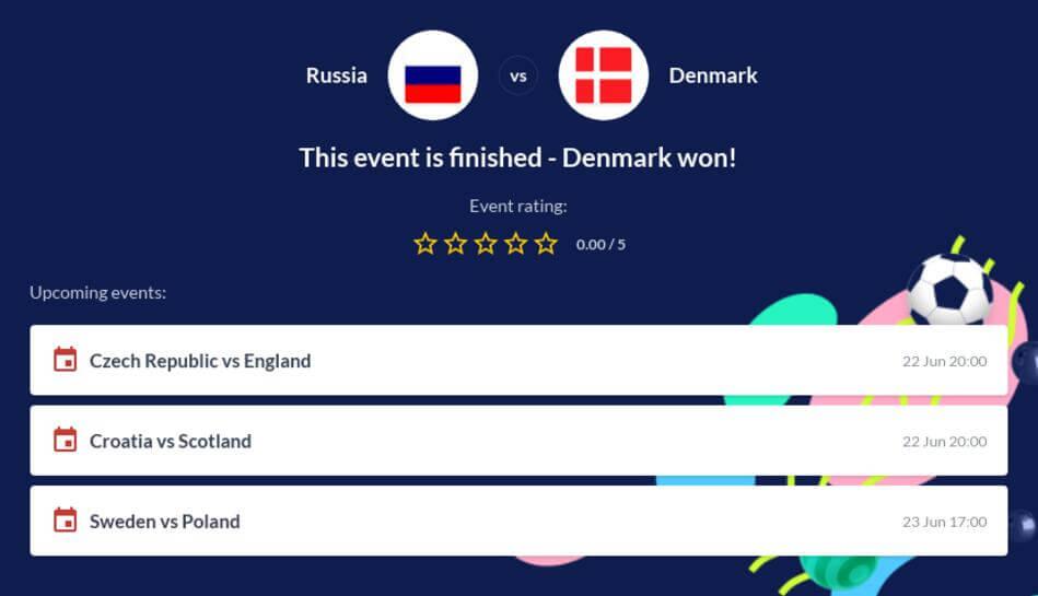 Russia vs Denmark Betting Tips