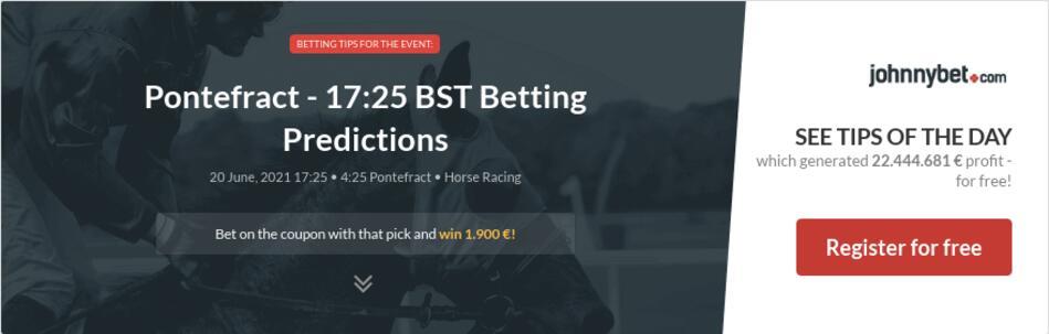 Pontefract - 17:25 BST Betting Predictions