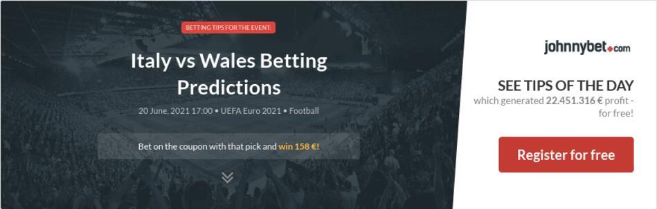 Italy vs Wales Betting Predictions