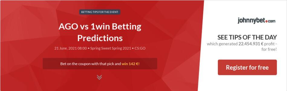 AGO vs 1win Betting Predictions