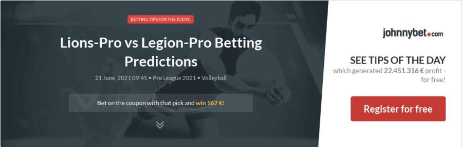 Lions-Pro vs Legion-Pro  Betting Predictions